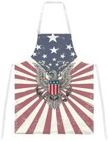 Old Glory 4th of July Born Free Distressed American Eagle All Over Apron Multi Standard One