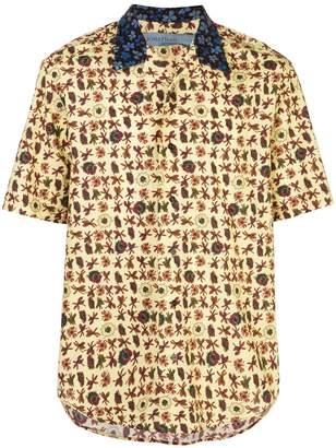 Jonathan Cohen floral short-sleeve shirt