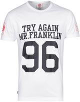 Franklin & Marshall Try Again White Crew Neck T-shirt