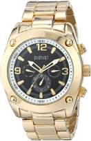 August Steiner Men's AS8129YG Analog Display Swiss Quartz Gold Watch