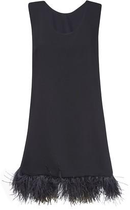 P.A.R.O.S.H. Fringed Hem Short Dress