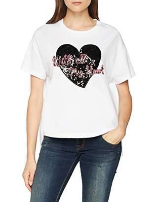 Trussardi Jeans Women's's Cropped Tshirt Cotton Jersey T - Shirt White W001, (Size: X-Large)