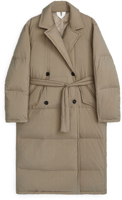 Arket Down Puffer Trench Coat