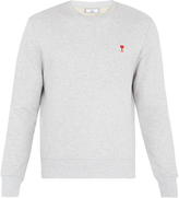 Ami de Coeur-embroidered cotton sweatshirt
