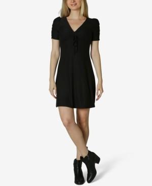 Ultra Flirt Juniors' Ruched Jersey Dress