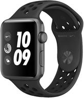Apple Watch Nike+ Series 3 (GPS), 42mm Space Grey Aluminium Case With Anthracite/Black Sport Band