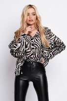 Jagger Arri London Shirt Blouse in Zebra Print