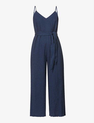 Seafolly Textured wide-leg cotton jumpsuit