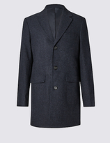 Collezione Single Breasted Modern Geo Coat With Buttonsafetm
