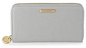 GiGi New York Women's Large Zip-Around Leather Wallet