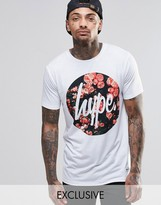 Hype T-shirt With Rose Script Logo