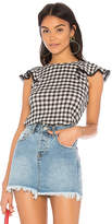 Michael Stars Front To Back Gingham Blouse