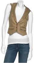 Hooded Linen Vest