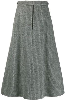 Thom Browne A-line box pleat skirt