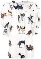 Stella McCartney crinkled neck dog blouse