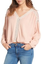 Ella Moss Women's Katella Lace Inset Blouse