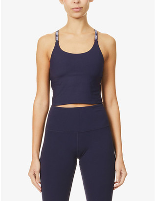 Lorna Jane Active logo-strap stretch-jersey sports bra