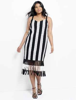 ELOQUII Crochet Slip Dress