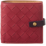 Bottega Veneta Intrecciato Leather Mini Flap Wallet