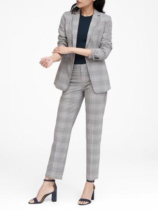 Banana Republic Long and Lean-Fit Washable Plaid Blazer