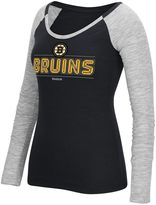 Reebok Women's Boston Bruins Marled Slub Tee