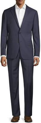 Hickey Freeman Classic Fit Windowpane Wool Suit