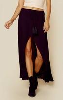 Indah barefoot flounce maxi skirt