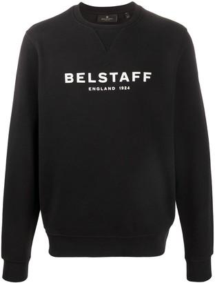 Belstaff Crew Neck Printed Logo Sweater