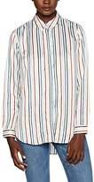 Great Plains Women's Rainbow Stripe Pocket Shirt