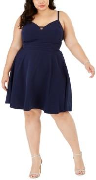 City Studios Trendy Plus Size Sweetheart Dress