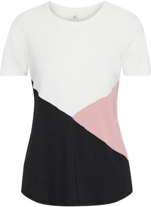 Iris & Ink Color-block Stretch-jersey T-shirt