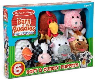 Melissa & Doug Barn Buddies 6-Piece Hand Puppet Set