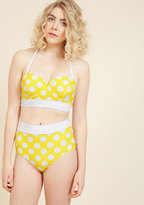High Dive by ModCloth Sunlight Showcase Swimsuit Bottom in Dots in S