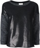Moncler metallic panel knit top - women - Polyester/Virgin Wool - S