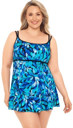 Great Lengths Hip Minimizer D-Cup One-Piece Swimdress