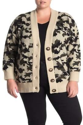 Catherine Malandrino Button Front Slouchy Cardigan (Plus Size)