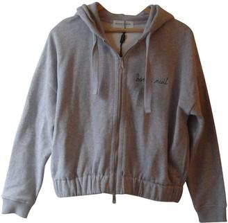Maison Labiche Grey Cotton Top for Women