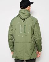 Huf Huf Parka With Back Print - Green