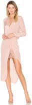 Michelle Mason x REVOLVE Long sleeve Wrap Dress