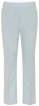 Stella McCartney Mid-rise straight cotton pants