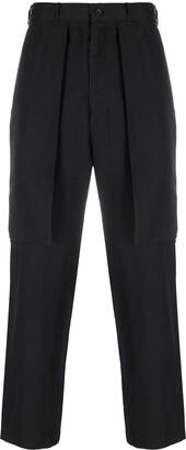 Black Comme Des Garçons Straight Leg Side Flap Pocket Trousers