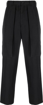 Straight Leg Side Flap Pocket Trousers