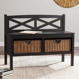 Sei Parsons X-Back Bench with Storage Baskets