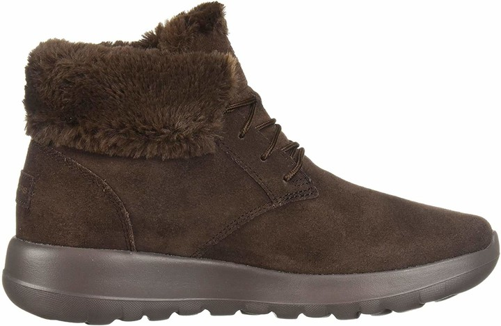 Skechers Women's ON-The-GO Joy Ankle Boots Brown Suede/Trim Chocolate 6.5 (39.5 EU)