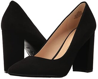 Nine West Astoria9x9 Block Heel Pump (Black Suede) High Heels
