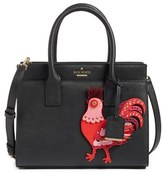 Kate Spade Rooster Small Candace Leather Satchel - None
