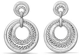 David Yurman Stax Concentric Drop Earrings with Diamonds