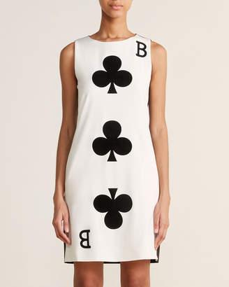 Moschino Ivory & Black Clover Shift Dress