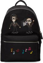 Dolce & Gabbana Black Nylon Designers & Music Backpack