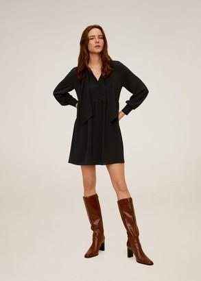 MANGO Short flowy dress
